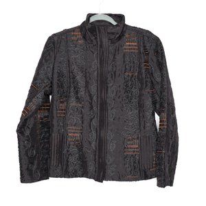 Chico's | Embroidered Asian Art To Wear Jacket 2/L